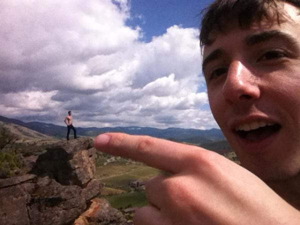 Some asshole giant just dropped me off in the middle of the mountains. I will have my revenge. http://t.co/IbESi2Pw