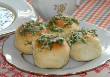 Рецепт пампушки с чесноком жареные
