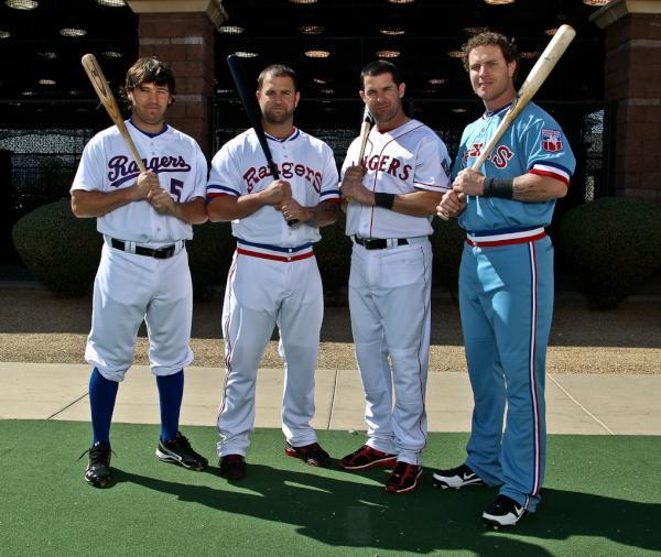 the latest 2b125 75a3e texas rangers retro jersey