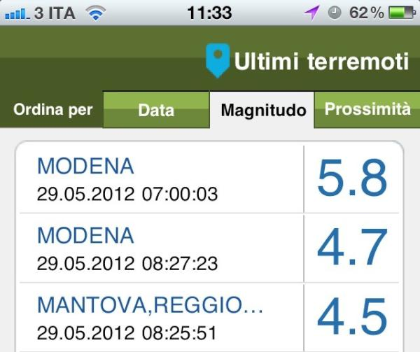 Applicativo INGV Terremoti per smartphone: download App su Play Google