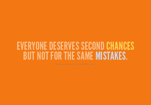 every person deserves a second chance