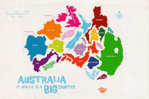 thecoolhunter on Twitter Cool map showing how many counties can fit in