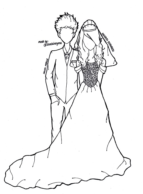 Line Art Wedding : Wedding drawing imgkid the image kid has it