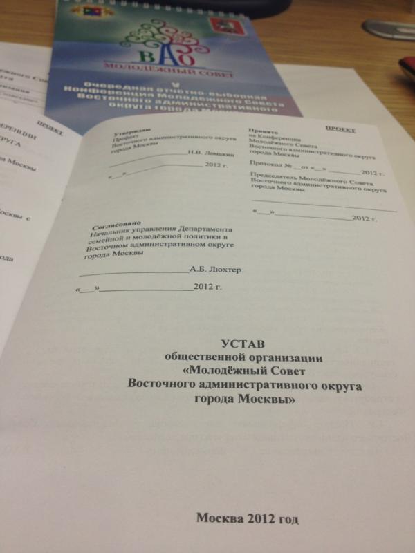 Устав общественной организации межрегиональной
