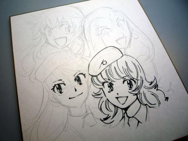 椎名高志先生のイラスト入りサイン色紙の描き方 Togetter