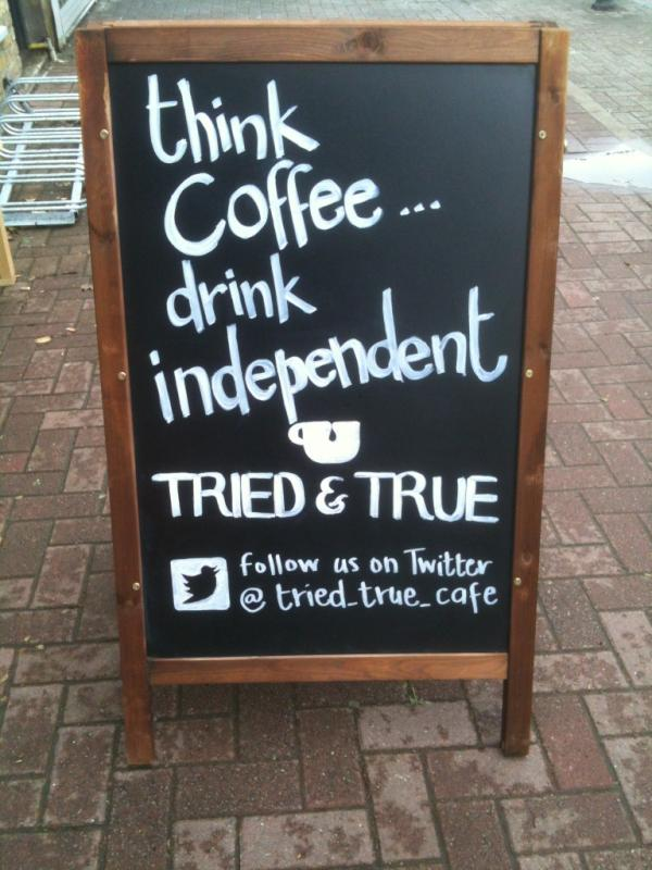 Tried and True cafe on the Upper Richmond Road