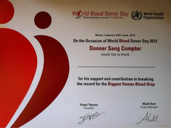 donner sang compter on twitter grab your blood donor day certificate at our office anytime now dekwaneh near credit lib nehm center