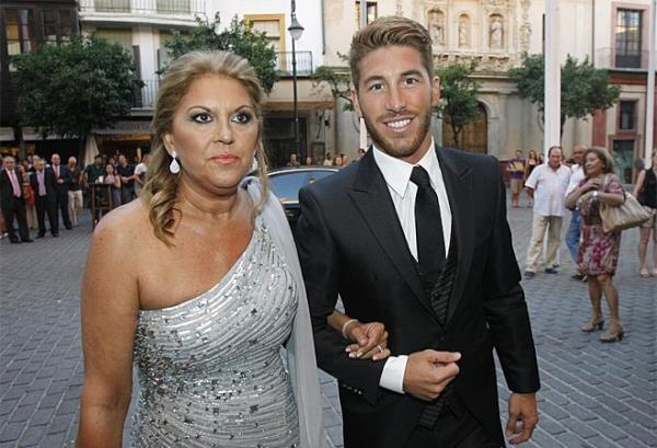 Photo of Sergio Ramos  & his  Mother  Paqui Ramos
