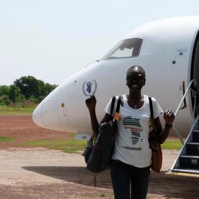 Alek Wek  - Arriving in ssudan http twitter @TheRealAlekWek