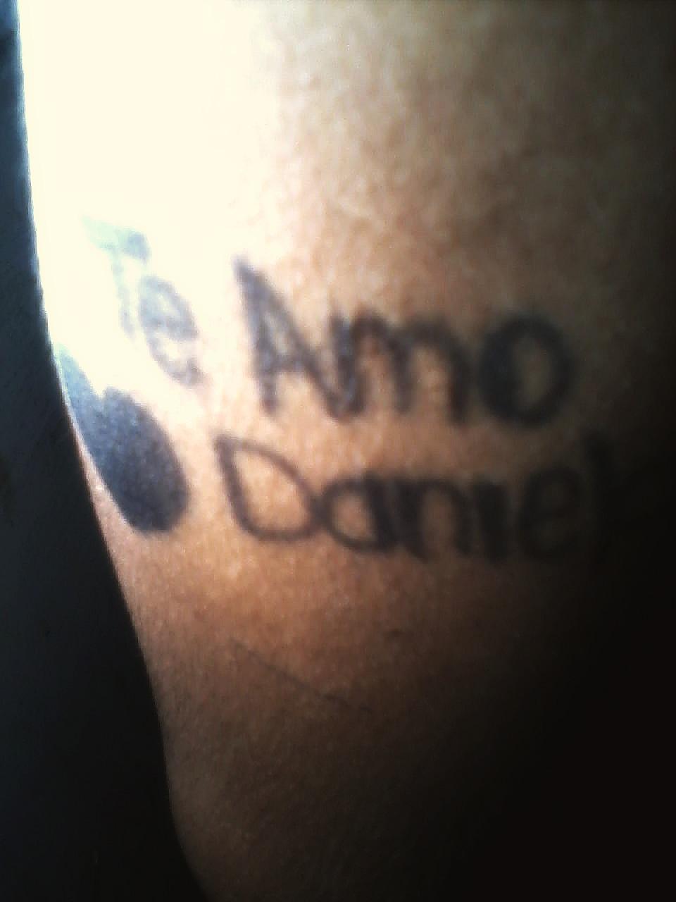 Unalienmas Me Hare Un Tatuaje Con Este Nombre Te Amo Daniela