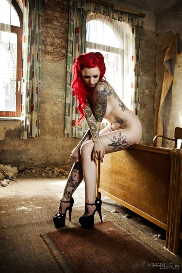Nude girls Hot tattoos redhead
