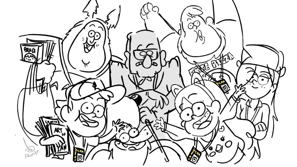 "Gravity Falls Personajes Para Colorear: Alex Hirsch On Twitter: ""Gravity Falls Is Gonna Be At"