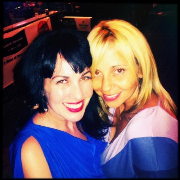 Photo of Grey Griffin  & her friend Tara Strong