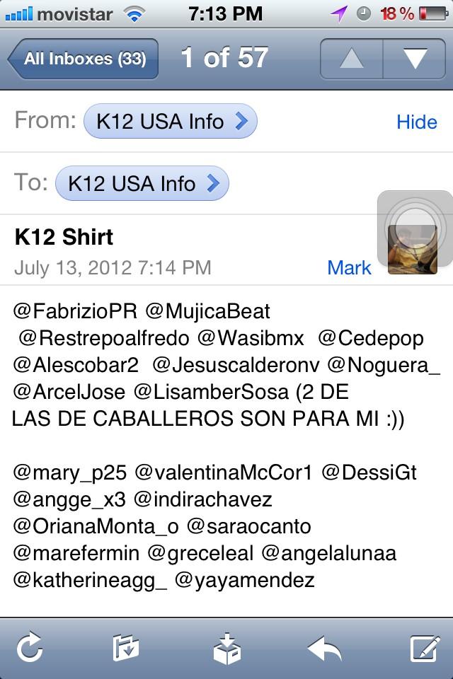 RT @elkiko12: Aquí esta la lista completa de los ganadores de las #K12Shirt. Las retiran la próxima semana en @METR0PARK >> http:/ ...