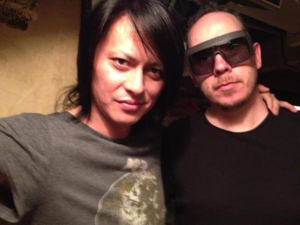 crazy meeting up with Atsushi @BUCKTICK_INFO @deathr_official in TOKYO. we toured JAPAN together in '01 as 'Schwein' http://t.co/Ly35qeor