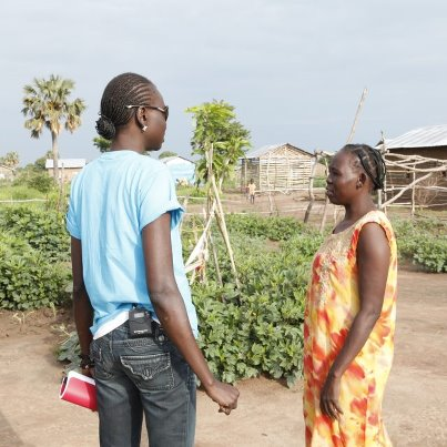 Alek Wek  - She returned southsudan twitter @TheRealAlekWek