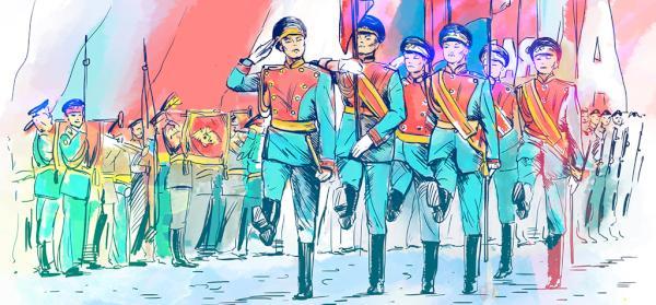 Военный марш картинки нарисованные