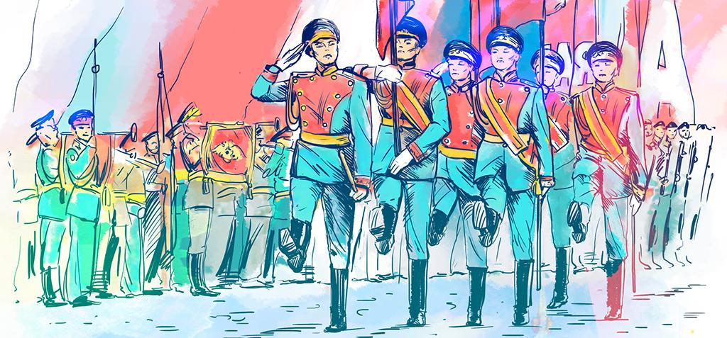 целом иллюстрации к военному маршу сытная при