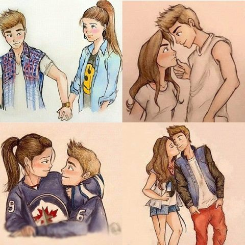 Agree, Justin bieber couple cartoon right! seems