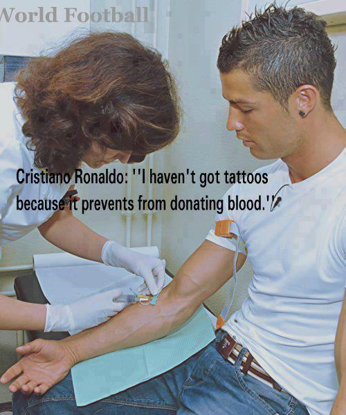 Karim on twitter cristiano ronaldo i haven 39 t got for Tattoos and giving blood