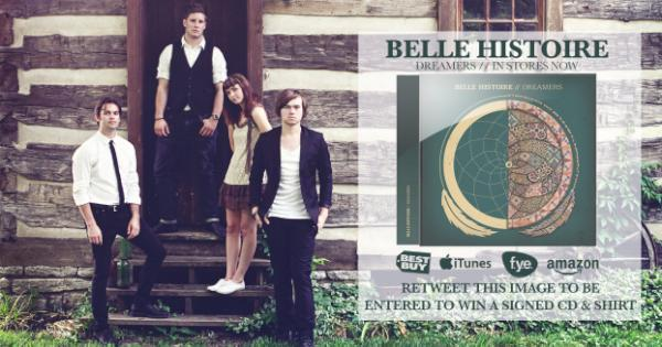Retweet this image for a chance to win a signed #BelleHistoire shirt & CD. #Dreamers: http://t.co/PixG5231 http://t.co/5NbKfNsc