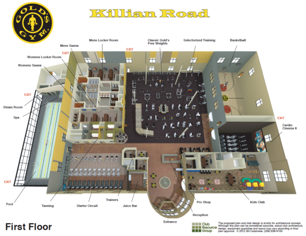 Gold 39 S Gym Columbia On Twitter Killian Road Floor Plan