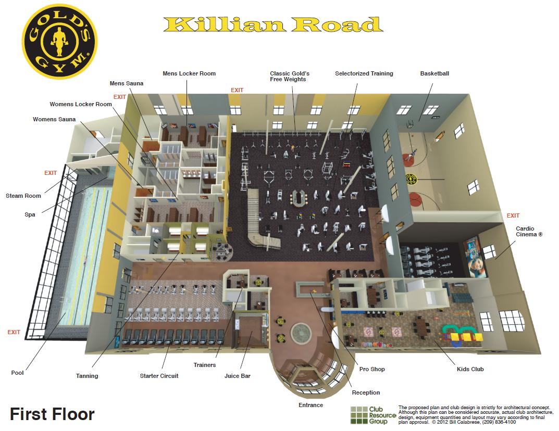 Gold s gym columbia on twitter quot killian road floor plan