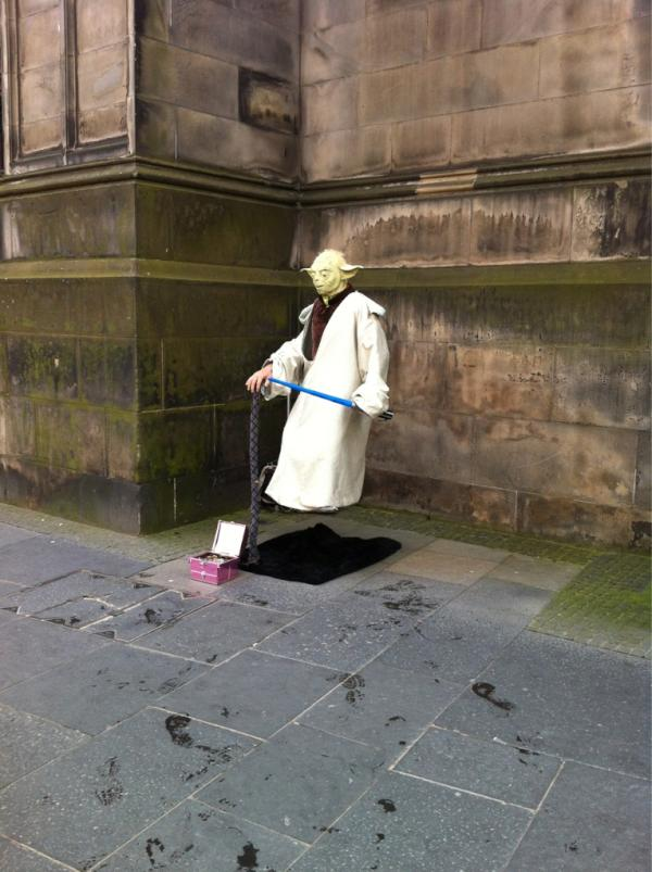 Adam Romain On Twitter Quot A Real Floating Yoda In Edinburgh