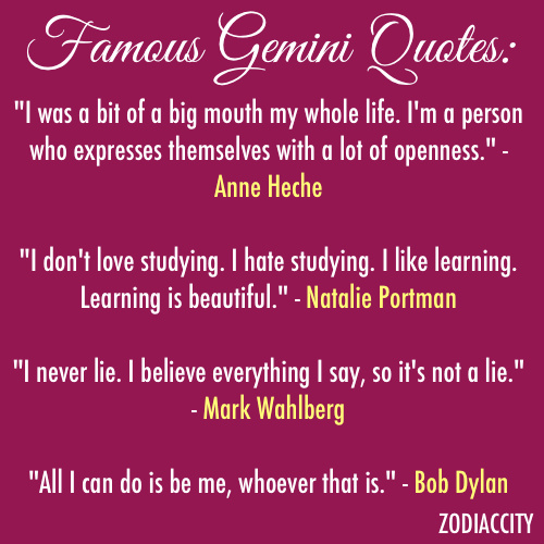 celebrity quotes on famous gemini quotes zodiaccity
