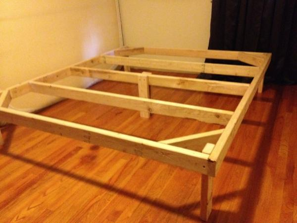 "Tools In Action on Twitter: ""Built a bed frame out of 2x4 ..."
