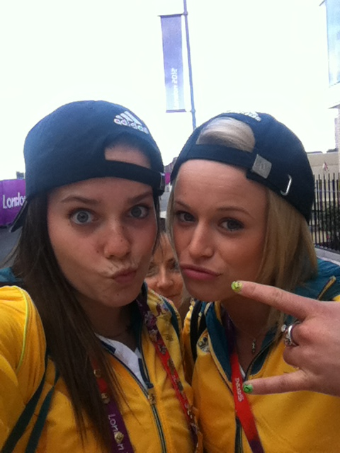 Reppin the Aussie caps with Buggs and Louds http://t.co/guy8ggOQ