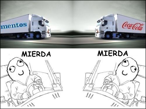 #CausasDelFinDelMundo el choque de un trailer de mentos con uno de coca-cola... http://t.co/qFBpxWXc