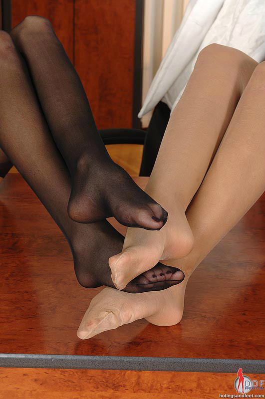 Nylon feet in public