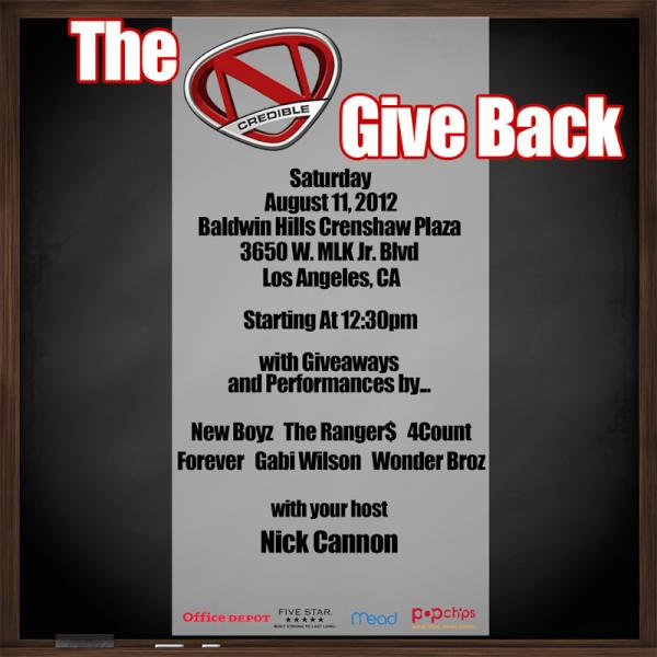 Help us spread the word! August 11th is the N'Credible Give Back event! We will be doing giveaways for back to school! http://t.co/IUimpgLM
