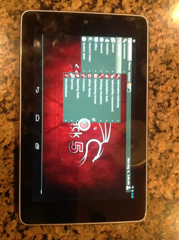 Billswearingen On Twitter Backtrack 5 Arm Running On A Google Nexus7 Pretty Much Follow Instructions At Http T Co 1xrobhtx Http T Co G8qptptd