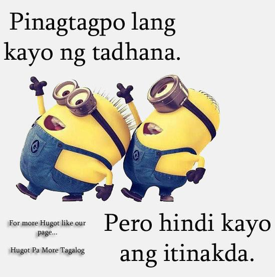 Hugot Pa More 60 On Twitter Minions Minion Hugot Hugotpamore Simple Minion Quotes Tagalog