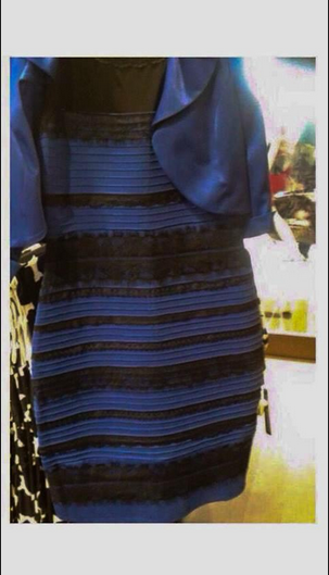 Blue Gold Dress Picture
