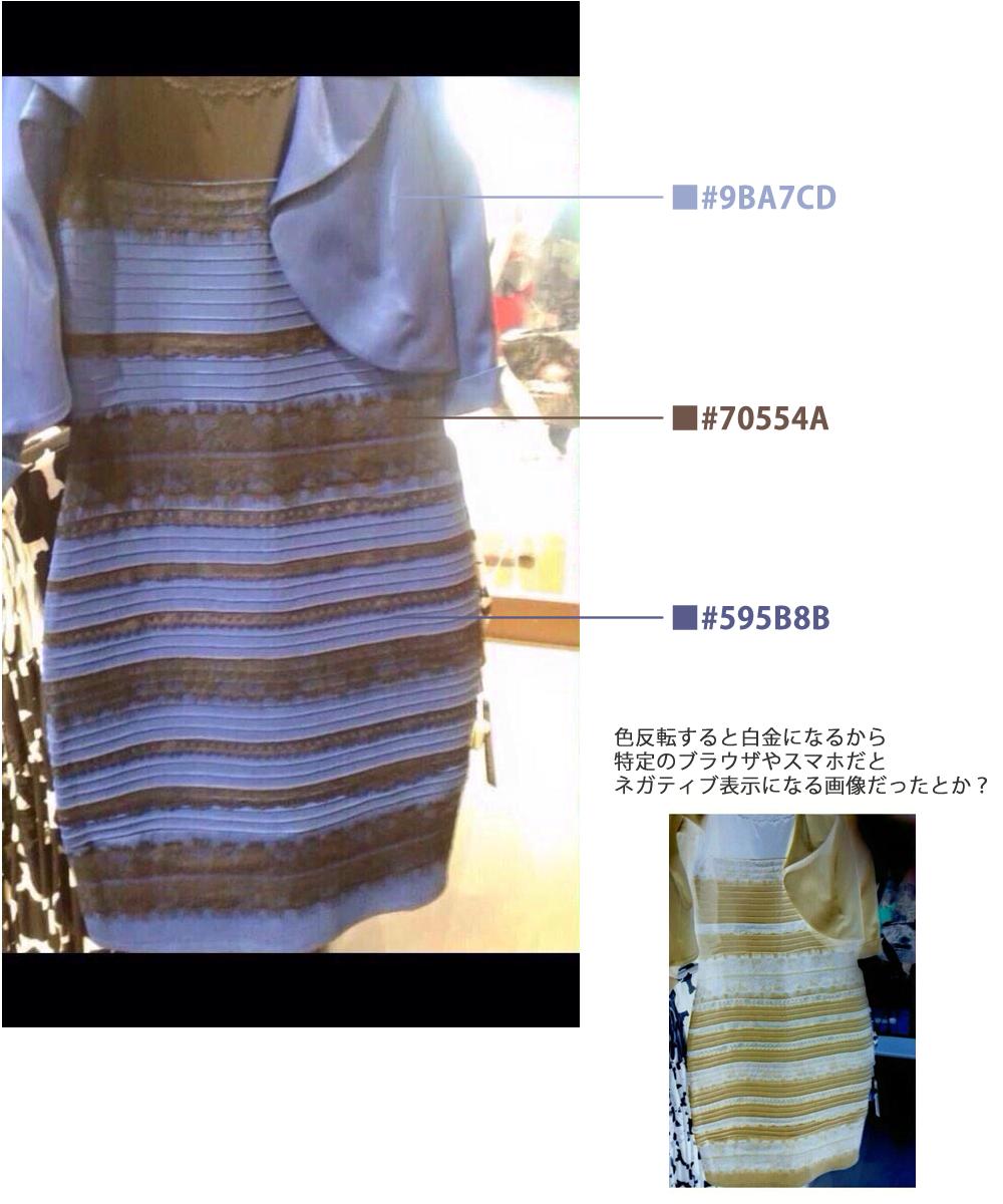 tweet  あなたは何色に見える?人によって見える色が違うドレス