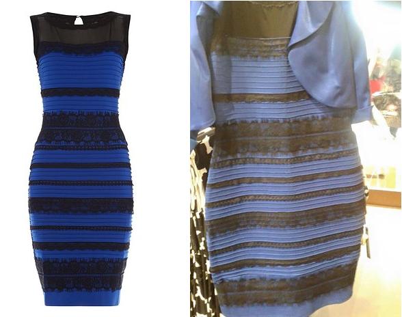 Explicaci 243 n del color del vestido taringa