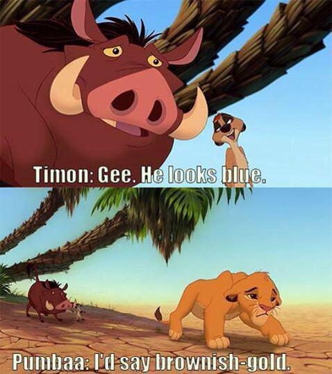 The Lion King did it first. #TheDress http://t.co/40CpZ8Ij9U