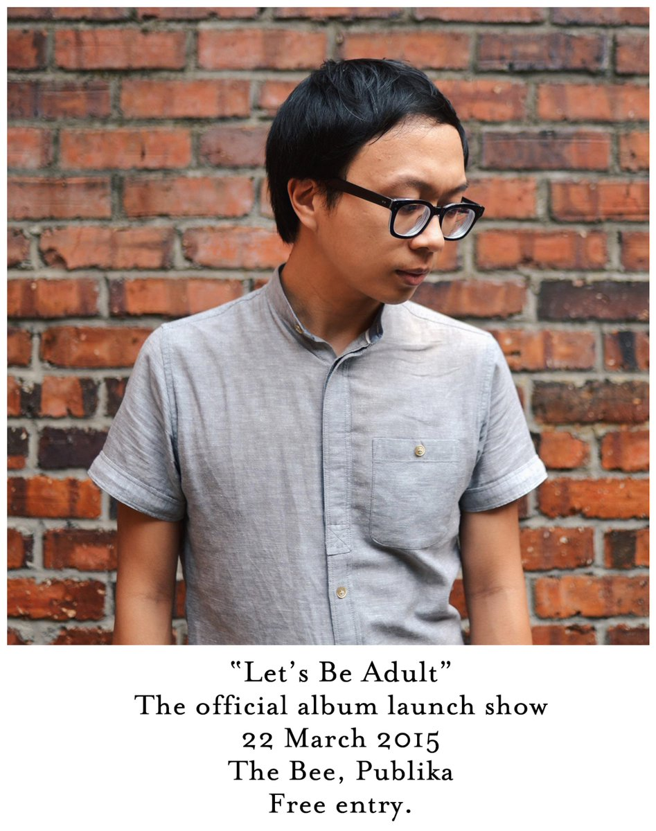 Let's Be Adult. The album launch show at The Bee, Publika. March 22nd. Free Entry. http://t.co/IjraX5P8PG
