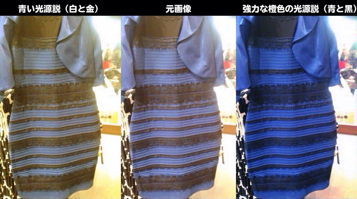 見る 人 によって 色 が 違う 服