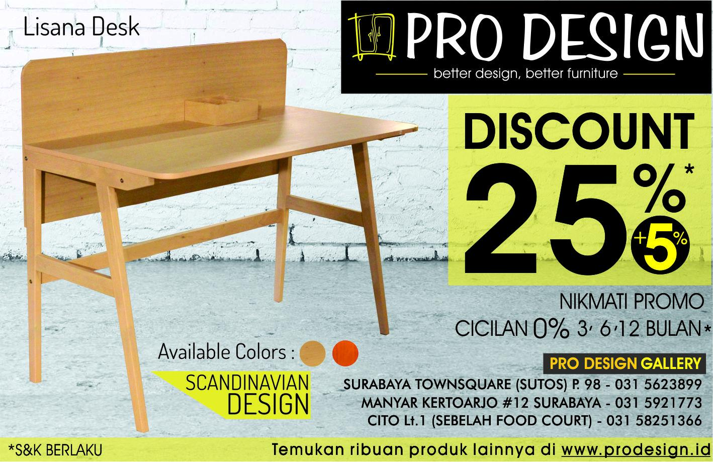 "pro design furniture auf twitter: ""nikmati promo lisana desk"