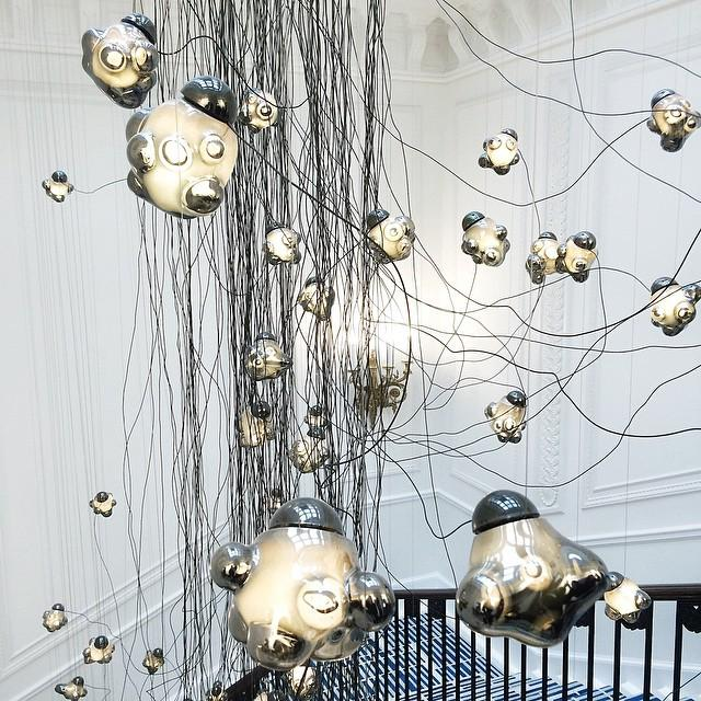 The most amazing, beautiful light installation at #CanadaHouse by Omer Arbel of #boccidesign. http://t.co/pdz3vdgOQe http://t.co/Onk3c2EbGq
