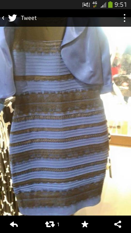 Robe bleue twitter