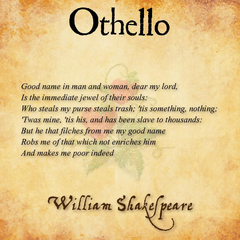 Othello essay on men and woman - help:>?