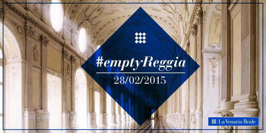 Domani @LaVenariaReale ospiterà il primo evento #empty in Italia: segui gli scatti di @igerspiemonte su #EmptyReggia! http://t.co/8QQEPuzLH8