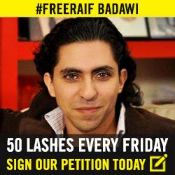 Confirmed @Raif_Badawi was not flogged today. Reasons unknown. Keep the pressure on! http://t.co/qoVzy4xKZQ #FreeRaif http://t.co/jN0u3HUINs