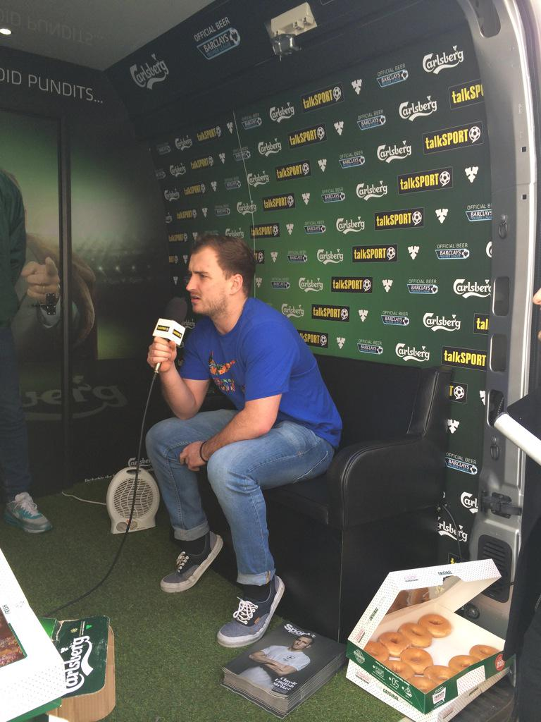 RT @tSCommercial: Nick from @OMD_UK giving it the full Partridge in the Peoples Pundit van. #liquidfootball http://t.co/cAkc0cXSSh