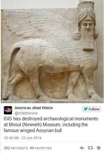 ISISの連中はこれを破壊したのか…。本当に人類の歴史に対しての賊だ。野蛮人以下としか言い様がない。 http://t.co/gfH3pno7jj